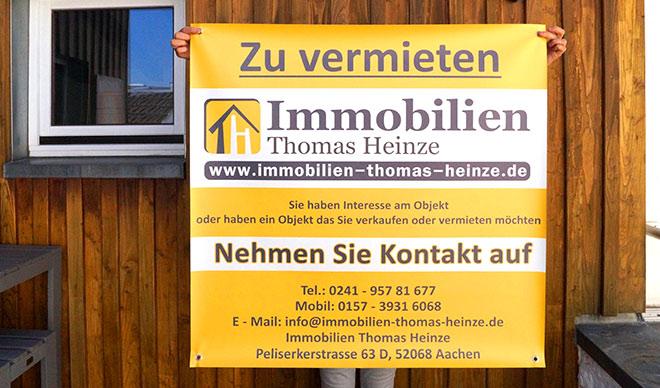 Zu vermieten Banner - Immobilien