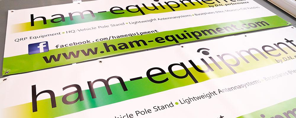 Bannerdruck | Werbebanner & Meshbanner als mobile Werbeträger auf Plane gedruckt