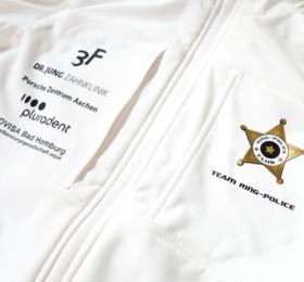 Bedruckte Softshell-Jacken für Rennteam