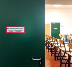 Brandschutztür-Aufkleber