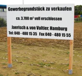 Zu verkaufen-Schild für Immobilienmakler