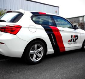 Teilfolierung BMW mit Logodruck
