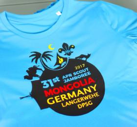 3farbig bedruckte Pfadfinder-Shirts im Flexdruck