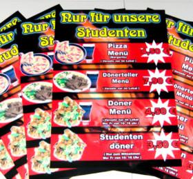 Poster mit Speise-Angeboten