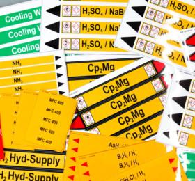 Rohrkennzeichnungsaufkleber für Gefahrenstoffe