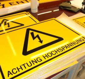 Sicherheitsschilder aus PVC