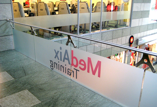 Sichtschutzfolien im Fitnessstudio MedAix Aachen Zentrum