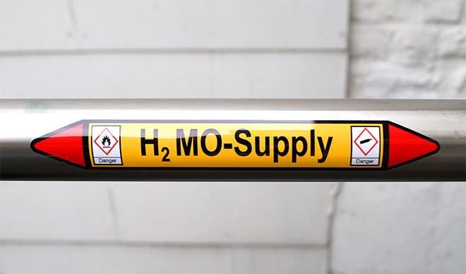Rohrkennzeichnung als Gefahrenkennzeichnung nach DIN 2403