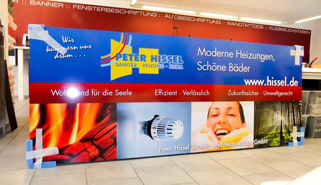 Großes Werbeschild aus PVC-Hartschaum